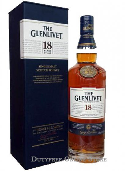 ลัง 6 ขวด The Glenlivet 18 Year Old 700ml.