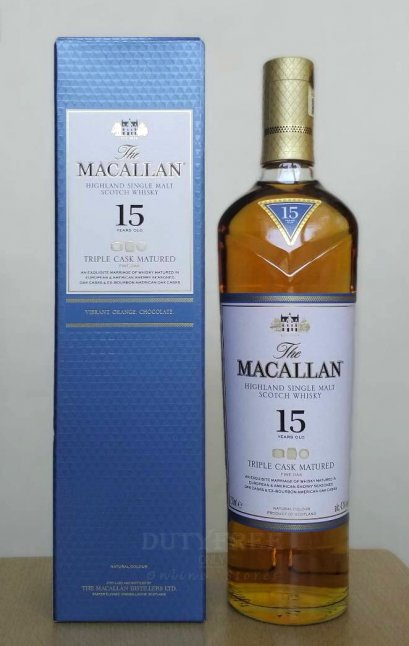The Macallan 15 Year Old Triple Cask 700ml.
