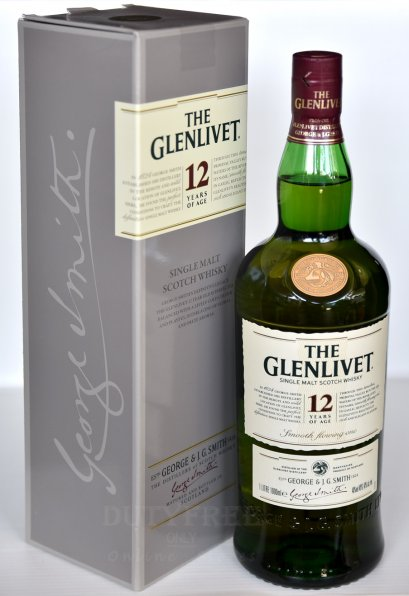 ลัง 12 ขวด Glenlivet 12 Year Old 1Liter