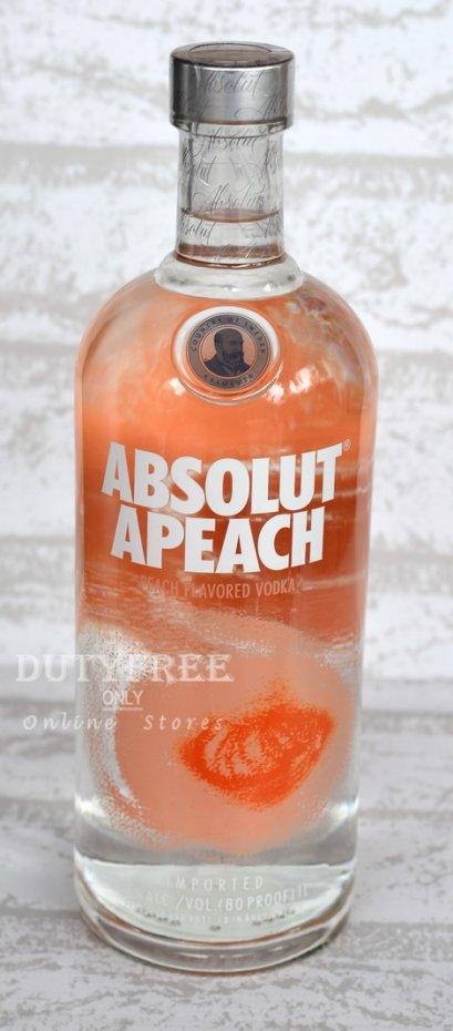 ลัง 12 ขวด Absolut Apeach Vodka 1Liter