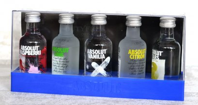 Absolut Flavoured Vodka Gift Pack, (5 ขวด) 50ml