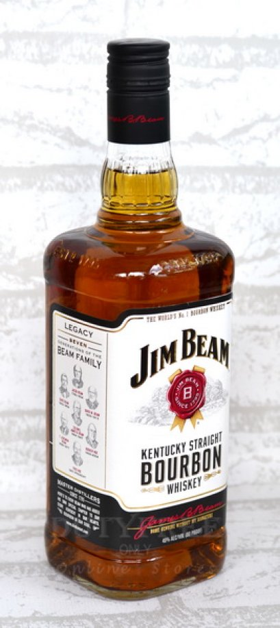 Jim Beam White Label Bourbon 1Liter