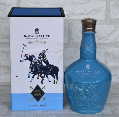 ลัง 6 ขวด Chivas Royal Salute 21 Year Old Beach Polo Edition 70cl.