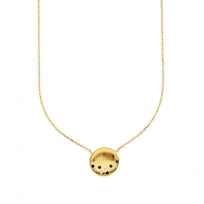 Moonlit River Gold Plated Necklace