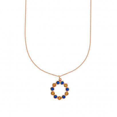 Ferris Wheel RoseGold Necklace