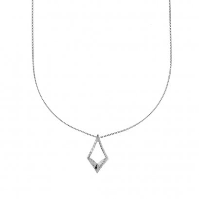 Sunlight Mirror Rhodium Necklace