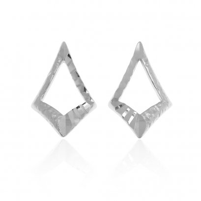 Sunlight Mirror Rhodium Earring