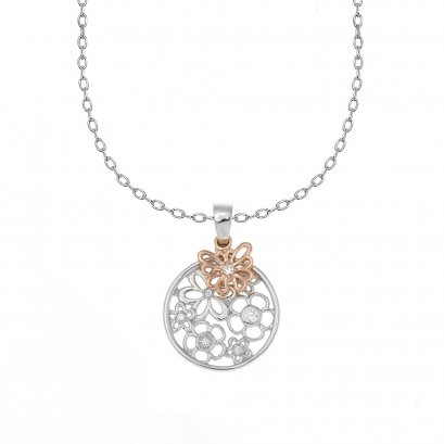 Butterfly on flowers Necklace