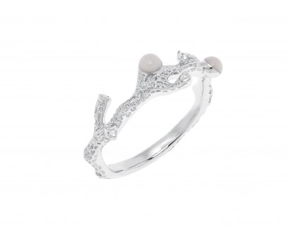 Silver Coral Ring