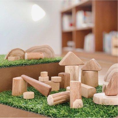 blixpop wooden blocks บล็อกไม้ธรรมชาติ