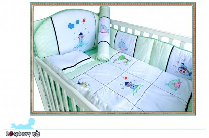 Baby Bedding Crib sets 5 pieces - Sailor Design