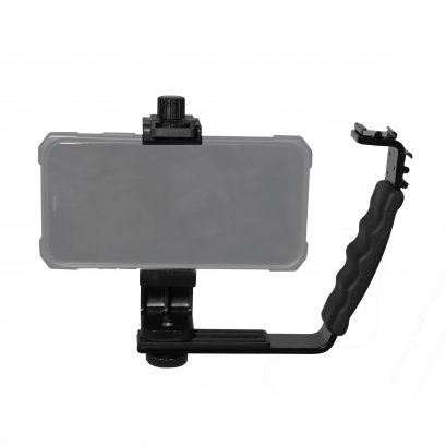L shape bracket +Mobile Phone Holder Cilp W/Cold Shoe