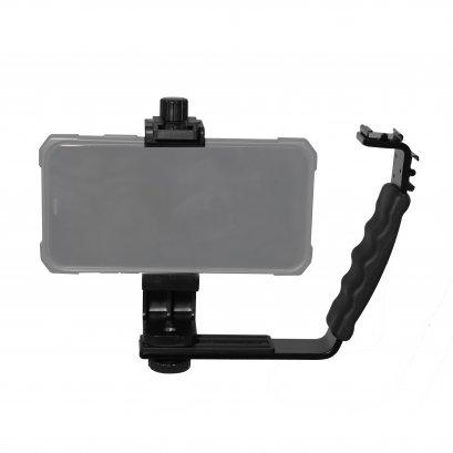 L shape bracket +Mobile Phone Holder Cilp W/Cold Shoe