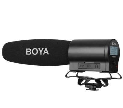 Boya BY-DMR7 shotgun mic with flash recorder