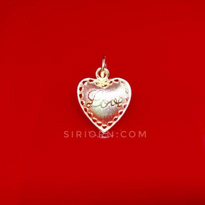 จี้ทองคำแท้ 96.5% ลายหัวใจLove