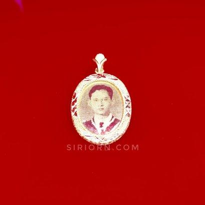จี้ทองคำแท้ 96.5% ลายร.9 (รูปไข่)