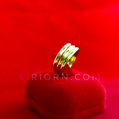 แหวนทองคำแท้ 96.5% ลายแหวนกิ๊ปเกลี้ยง3วง