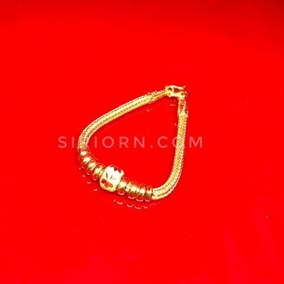 สร้อยข้อมือทองคำแท้ 96.5% ลายหกเสาคั่นประคำ