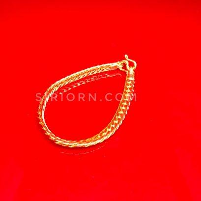 สร้อยข้อมือทองคำแท้ 96.5% ลายบิดนูน