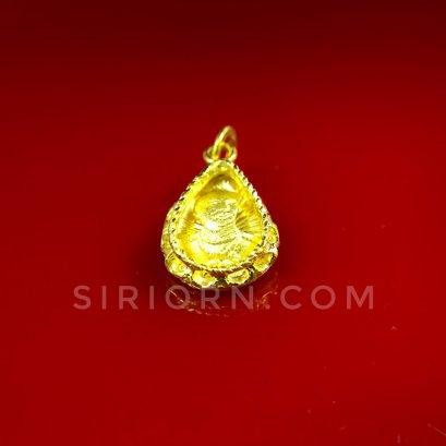 จี้ทองคำแท้ 96.5%ลาย ร.5 หยดน้ำกรอบฉลุ