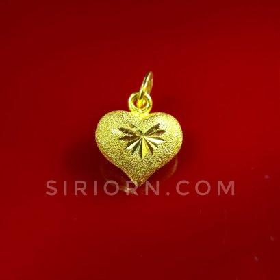 จี้ทองคำแท้ 96.5%ลายหัวใจจิกเพชรตัดลาย