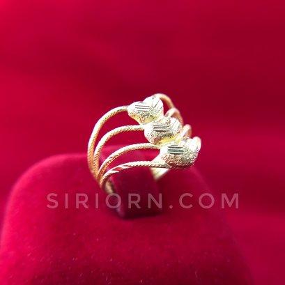 แหวนทองคำแท้ 96.5% ลาย3หัวใจ