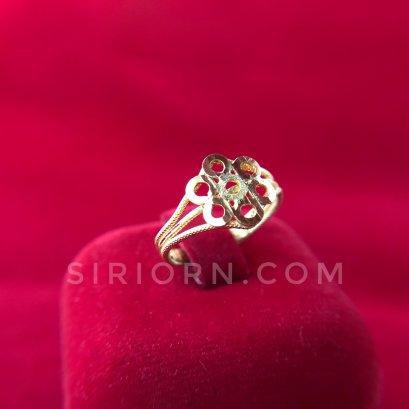 แหวนทองคำแท้ 96.5%  ลาย7ห่วง