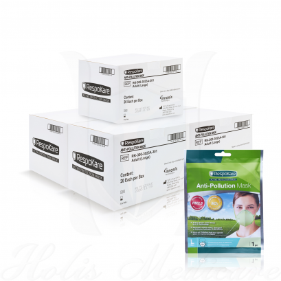 RespoKare หน้ากากป้องกันมลพิษและฝุ่นควัน ขนาดใหญ่(L) จำนวน 5กล่อง 100ชิ้น