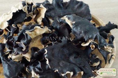 เห็ดหูช้าง หรือ เห็ดหูหนูดำหลังขาว หรือ เห็ดหูหนูดำ (Wood Ear Mushroom)