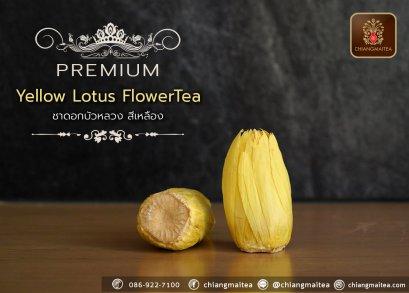 ชาดอกบัวหลวง พรีเมี่ยม สีเหลือง (Yellow Sacred Lotus Flower Tea Premium)