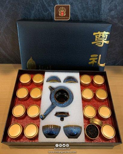กิ๊ฟเซ็ท ชาต้าหงเผา กาแก้วญี่ปุ่น (Da Hong Pao Tea Gift Set)