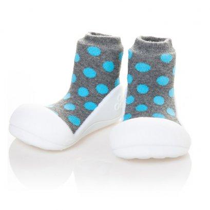 Attipas  รองเท้าหัดเดิน Polka Dots Grey 8852526272216