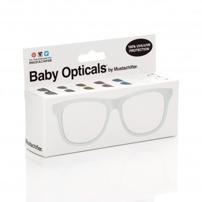Mustachifier White UV Glasses แว่นเนิร์ดเด็กสีขาว