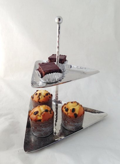 Stainless Steel 2 Tier Cake Stand