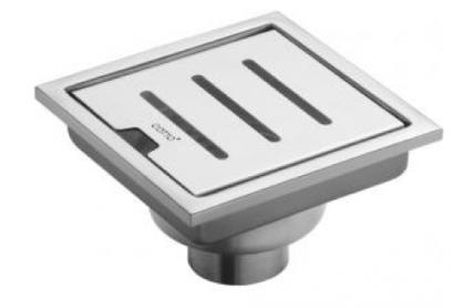 "COTTO รางน้ำกันกลิ่นสำหรับท่อ PVC ขนาด 1-3.5""  หน้าแปลน 5.7X5.7"