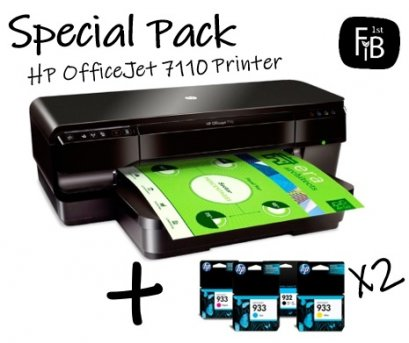 HP OfficeJet 7110 Printer+Ink