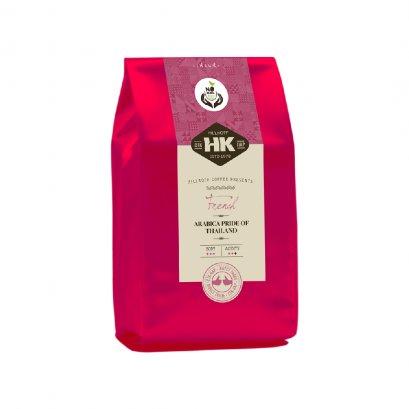 Hillkoff Arabica Coffee : ธงฟ้าอราบิก้าแท้ 100% คั่วเข้ม ตรา ฮิลล์คอฟฟ์ (French Roast) 500 กรัม