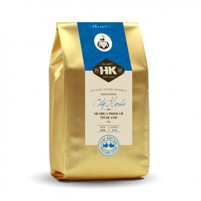 City / Mocha Roast : กาแฟอราบิก้าแท้ 100% คั่วอ่อน ตรา ฮิลล์คอฟฟ์ 500 กรัม