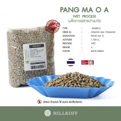 เมล็ดกาแฟสาร Green Beans Arabica Pang Ma O (ปางมะโอ) Grade A,Wet Process (20/21) : 1 Kg.