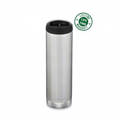 Klean Kanteen 20oz.Insulated with Cafe Brushed Stainless Silver