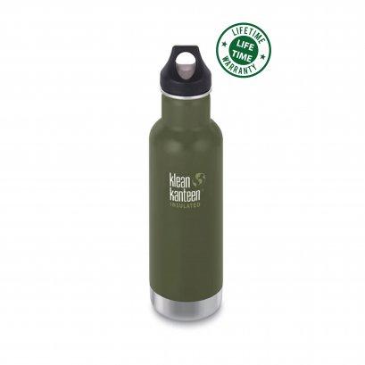 Klean Kanteen 20 oz. Vacuum Insulated Classic Green
