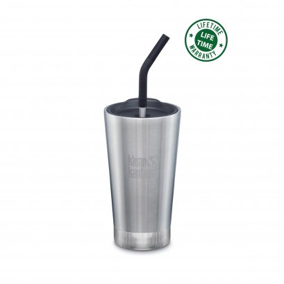 Klean Kanteen 16 oz. Tumbler Vacuum Insulated with Straw Lid Sliver