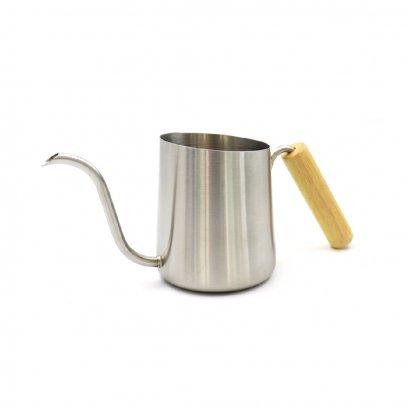 Koonan KN-600M Silver Coffee Wooden hand pot 600 ml