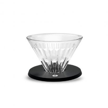 TimeMore Crystal Eye Glass Dripper 02 PC Holder Black