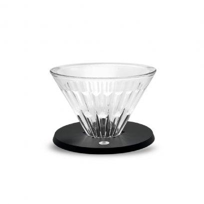 TimeMore Crystal Eye Dripper 02 Optical Glass: Black Metal Holder