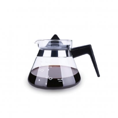YAMI YM02B Glass Coffee Pot Glass jug-black 500cc