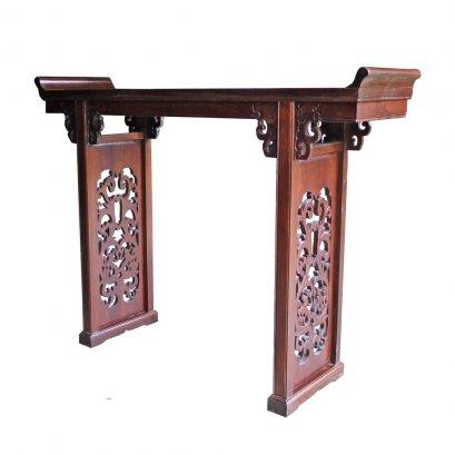 โต๊ะไหว้ไม้จริงสำหรับวางตี่จู้เอี๊ยะเจ้าที่จีน 150 ซม.