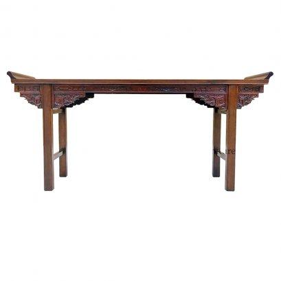 โต๊ะคอนโซลไม้ขอบงอน 184 ซม.
