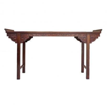 โต๊ะคอนโซลไม้ขอบงอน 210 ซม.