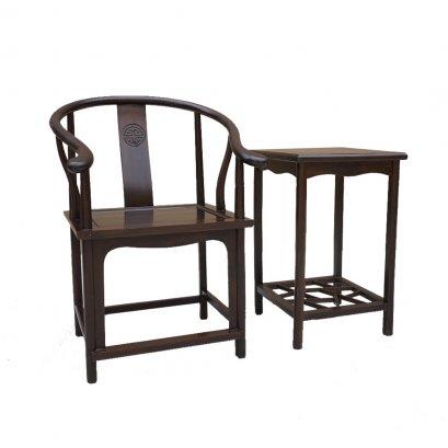 ชุดเก้าอี้จีนเท้าแขนโค้ง